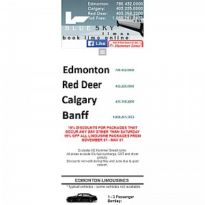 Calgary Limousine Service and Party Bus Tours
